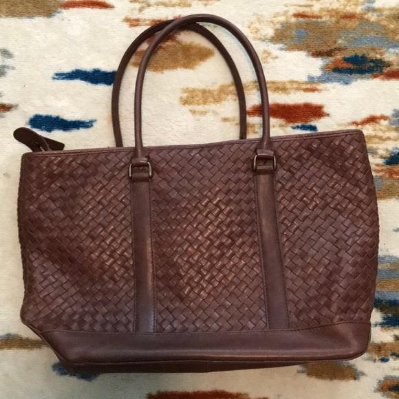 Tremendous Ll Bean Woven Leather Shoulder Bag Machost Co Dining Chair Design Ideas Machostcouk